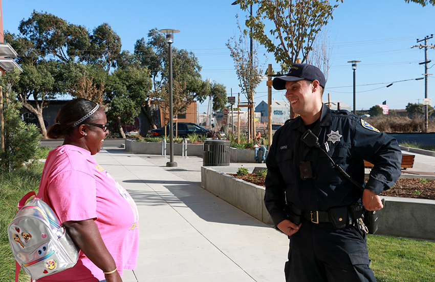 Community policing at the heart of transformation at SF's Alice Griffith Apartments