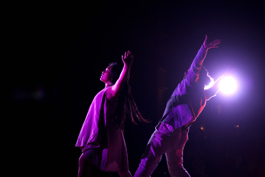 Members of the Cuicacalli Dance Company perform Thursday night. The company is founded and directed by Jesus Jacoh Cortes.