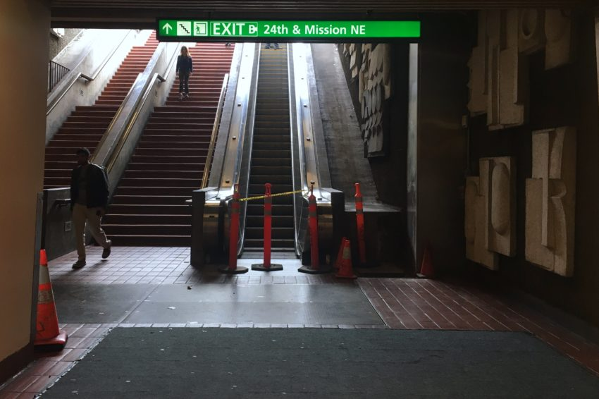 Sigh, escalators out again at 24th and Mission