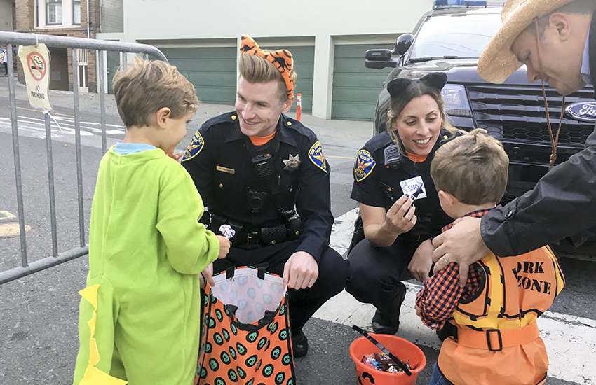 Halloween no holiday for SF cops, but they get in the spirit anyway