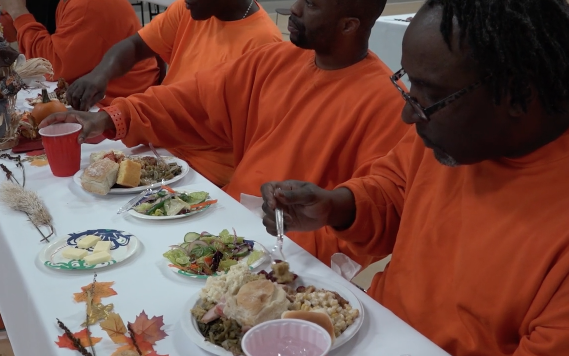 VIDEO: Inmates at SF jail reflect on Thanksgiving over a meal