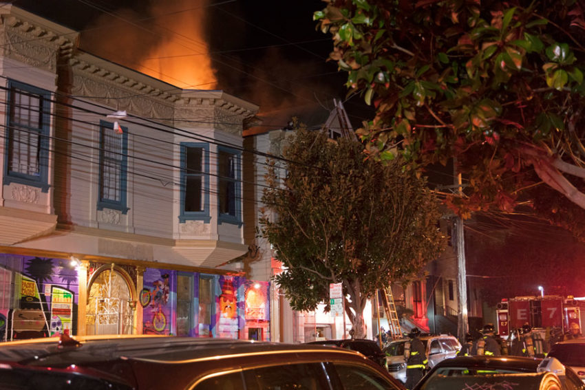 What percentage of San Francisco's firefighters actually live in San Francisco?