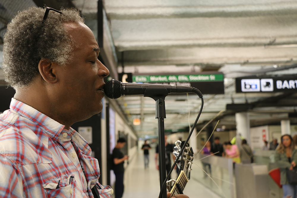 BART station musician Ron Kemp brings simple joy to frazzled commuters