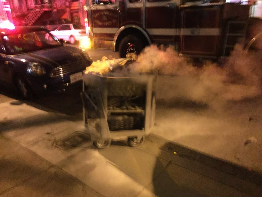 Giant battery causes fire, toxic fumes on Shotwell Street