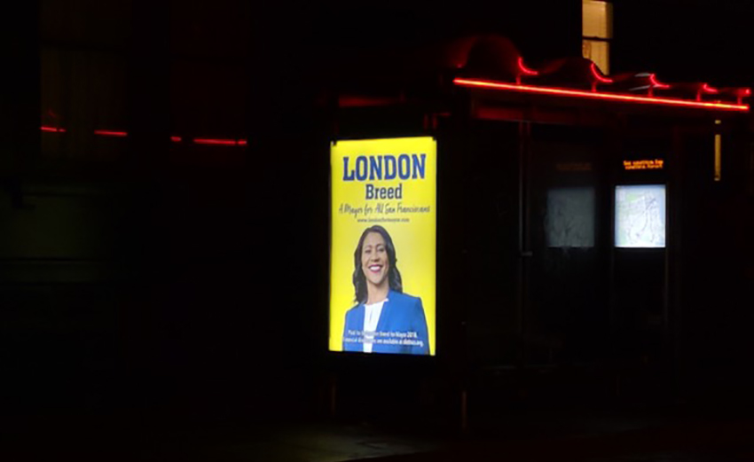 London Breed ads on bus shelters jolted Muni higher-ups, e-mails reveal