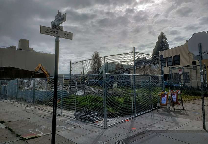 Demolition at 22nd and Harrison offers view of proposed SF greenway