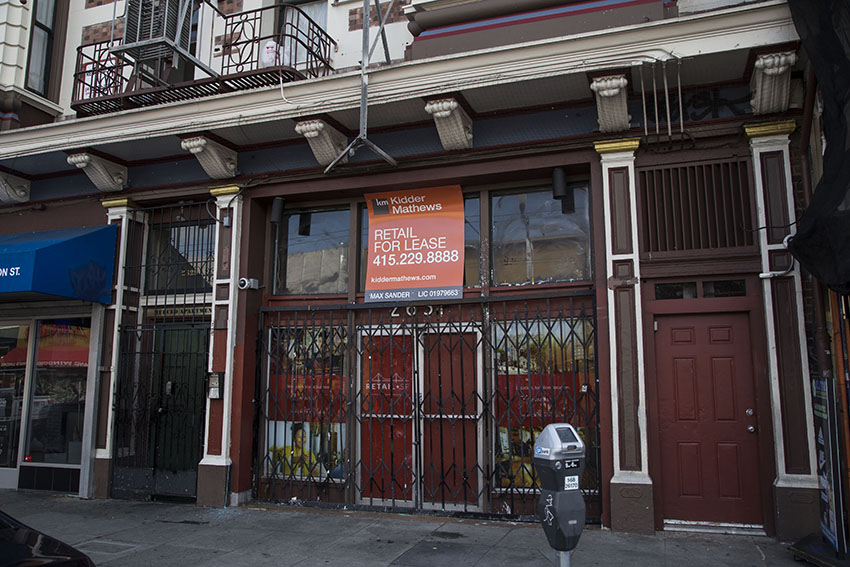 Vacancies abound on Mission Street, but less than half are for lease or sale