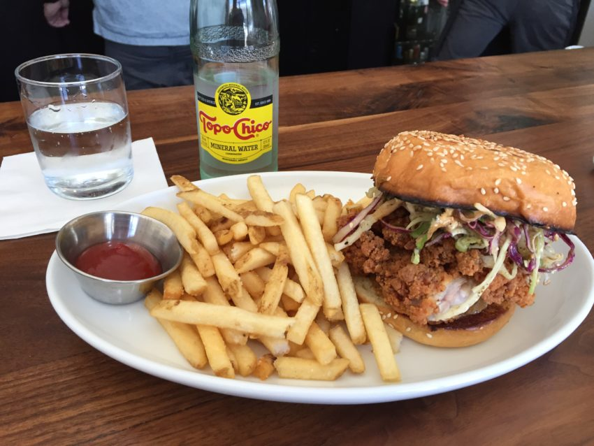 The fried chicken sandwich showdown stops in at Son's Addition
