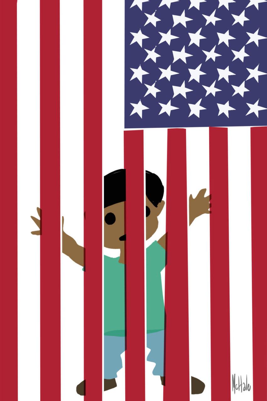 "Political Cartoon: ""Cage"""