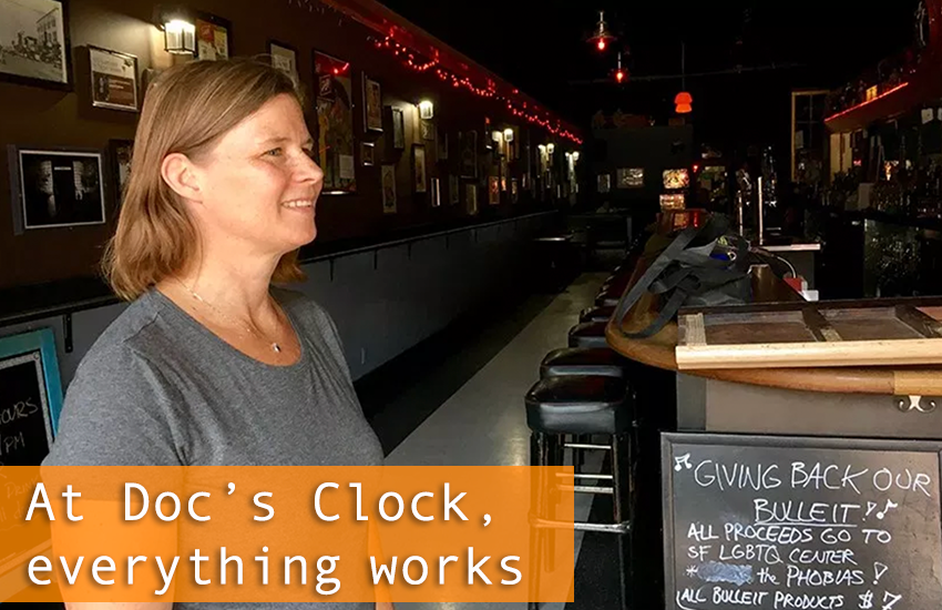 At Doc's Clock, everything works