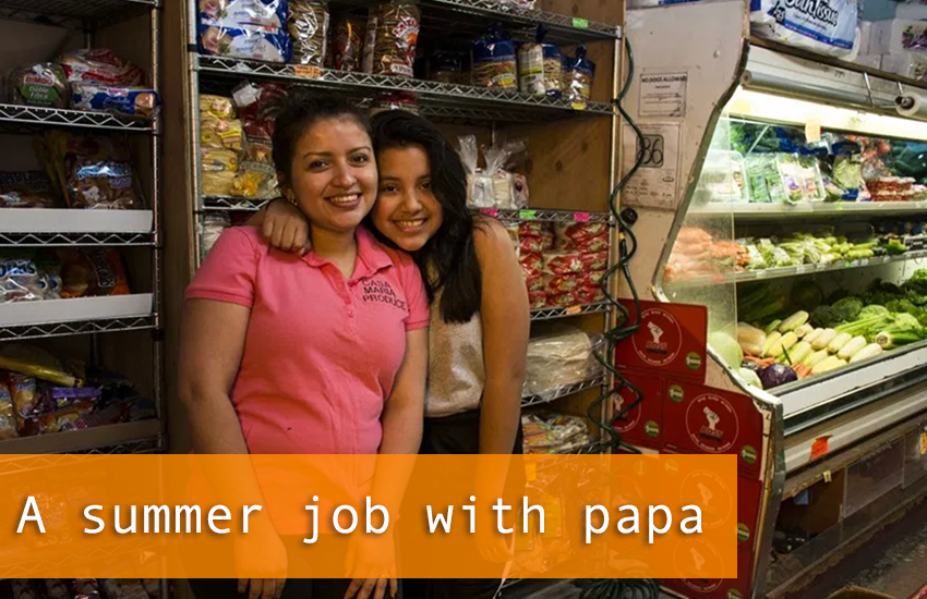 A summer job with papa