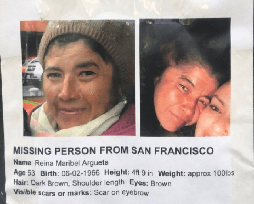 Mission District woman missing for six weeks