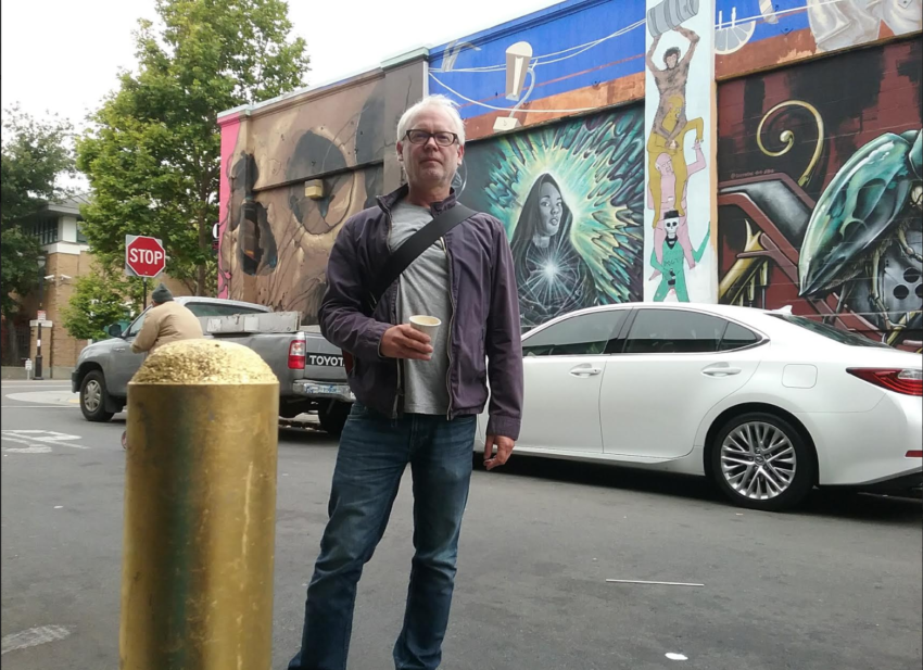 Streets in San Francisco's Mission are now painted in gold. For real (with video).