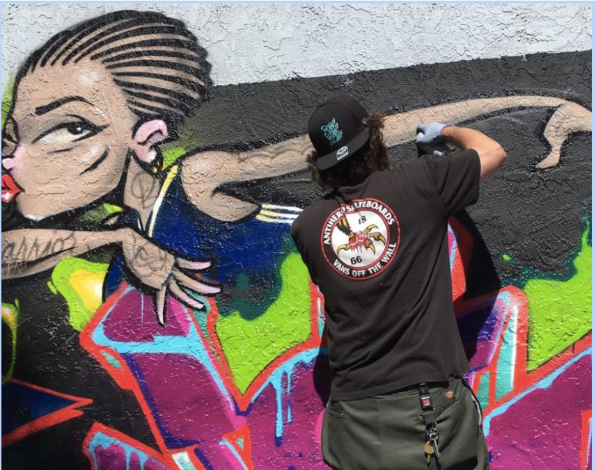 Mural replaces graffiti at 16th Street BART plaza (updated)