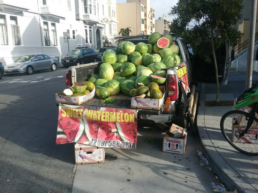 SNAPS: Melons on wheels