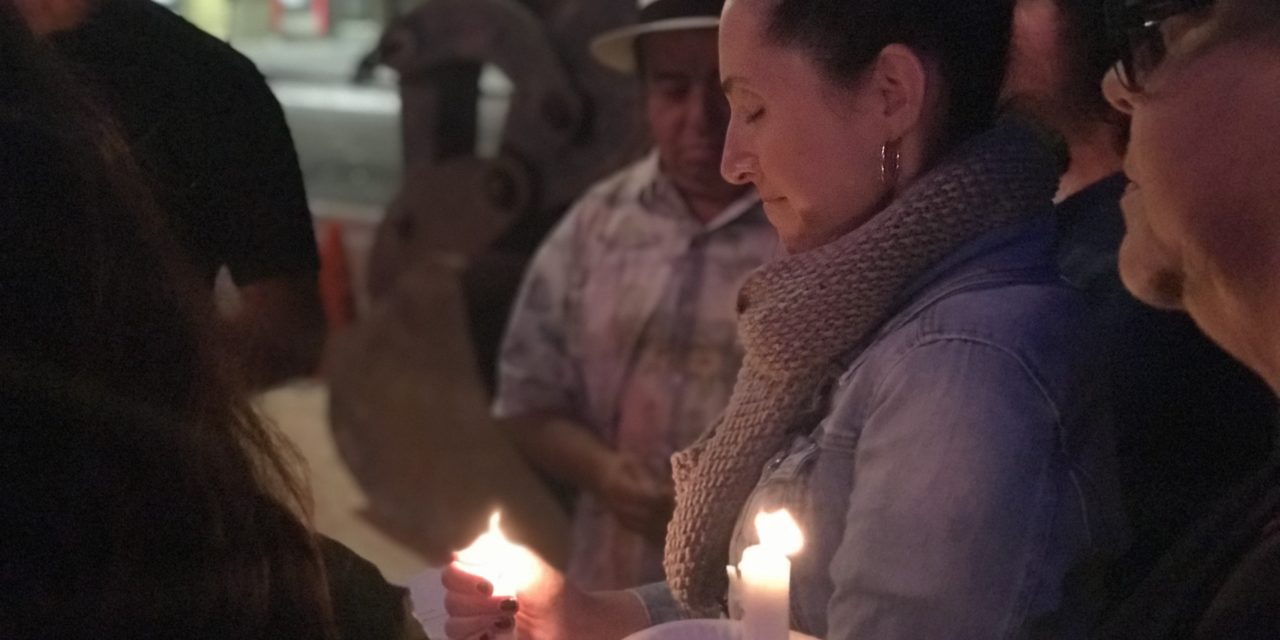 Vigil for victims of Hurricane Maria