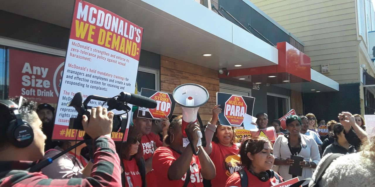 The #MeToo movement takes on fast food industry as strikers make demands at 24th Street McDonald's