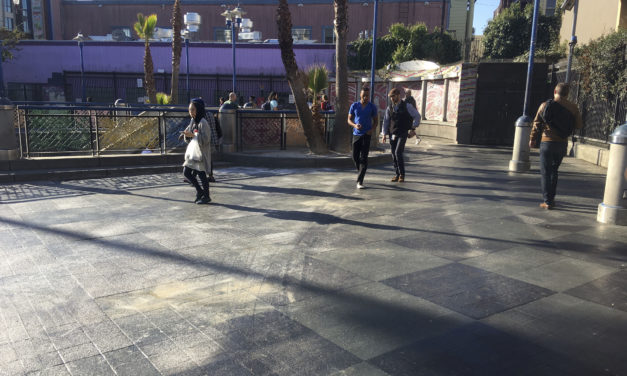 16th Street BART Plaza gleams, for now