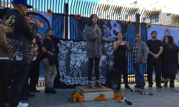 Supervisor joins community groups in opposition to 22nd and Mission project in Day of the Dead rally