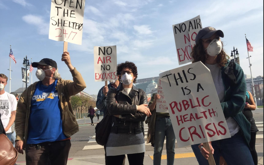 Protesters decry San Francisco's efforts to protect homeless from toxic air