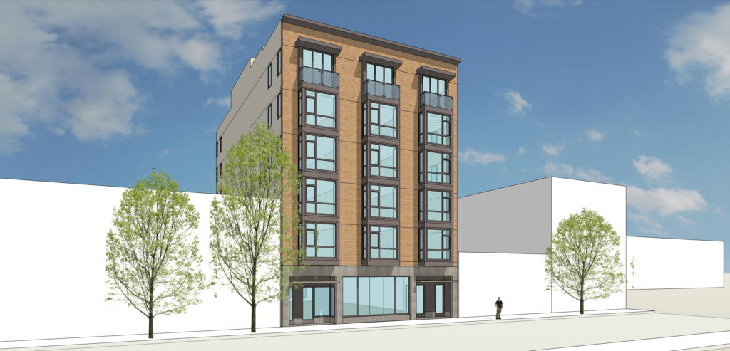 The S.F. Auto Works garage on Valencia Street could become a six-story apartment building