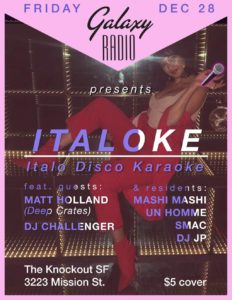 The Knockout: Galaxy Radio presents: Italoke - Mission Local