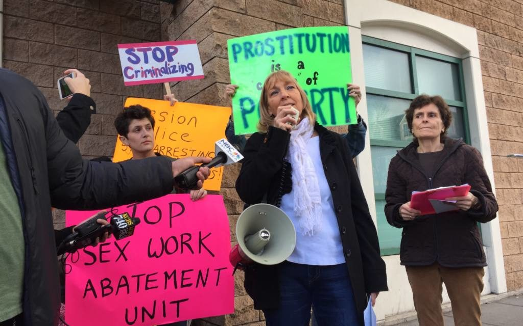 Sex workers, advocates denied entry into Mission Station in protest over 'Sex Worker Abatement Unit'