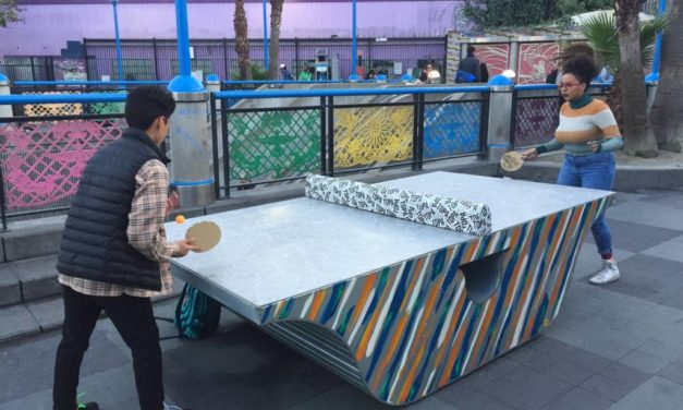 Ping pong table appears at 16th Street BART Plaza —for 'the people'
