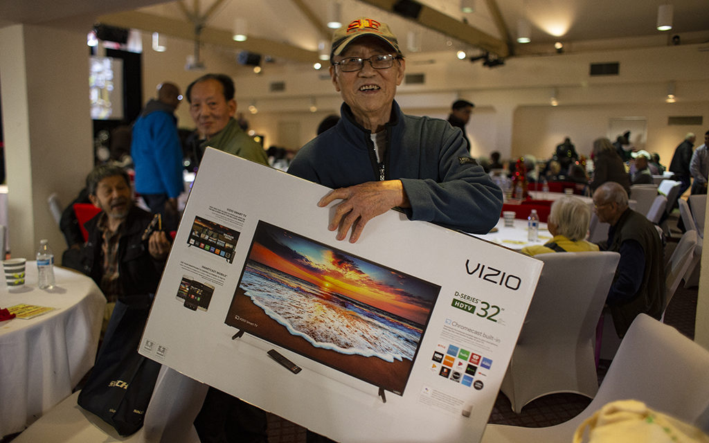 Quest for the flat screen: Mission seniors treated to lunch and raffle by San Francisco cable-car operators