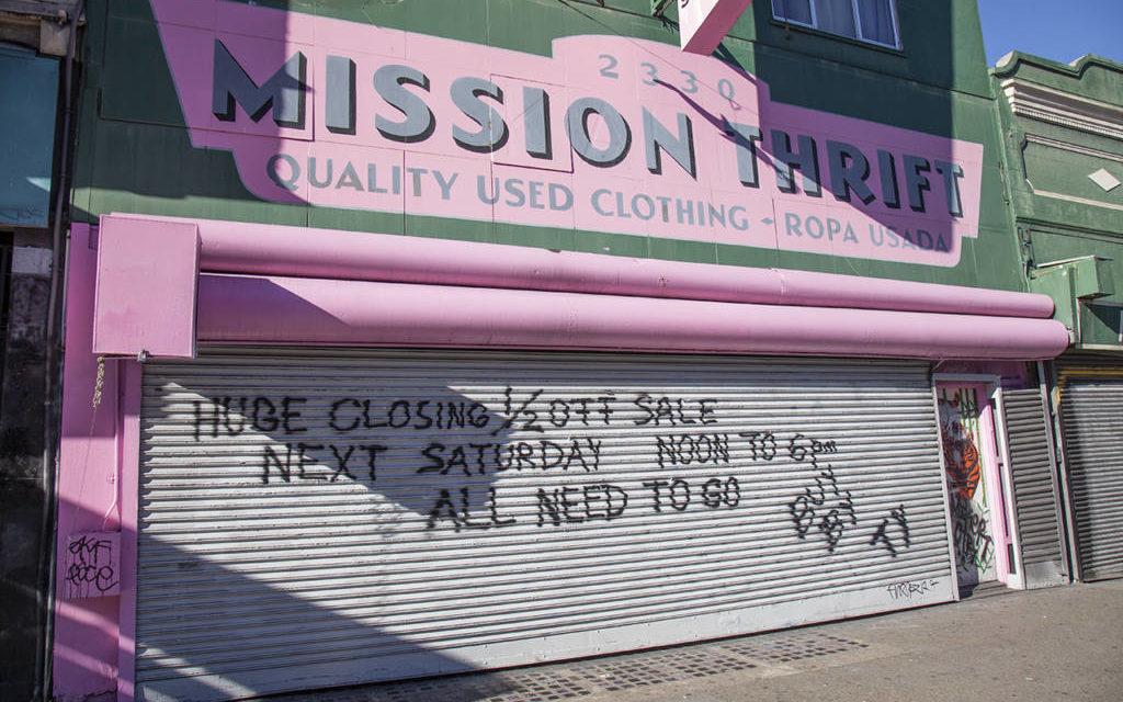 SF's Mission Thrift abruptly closing after 20-year run