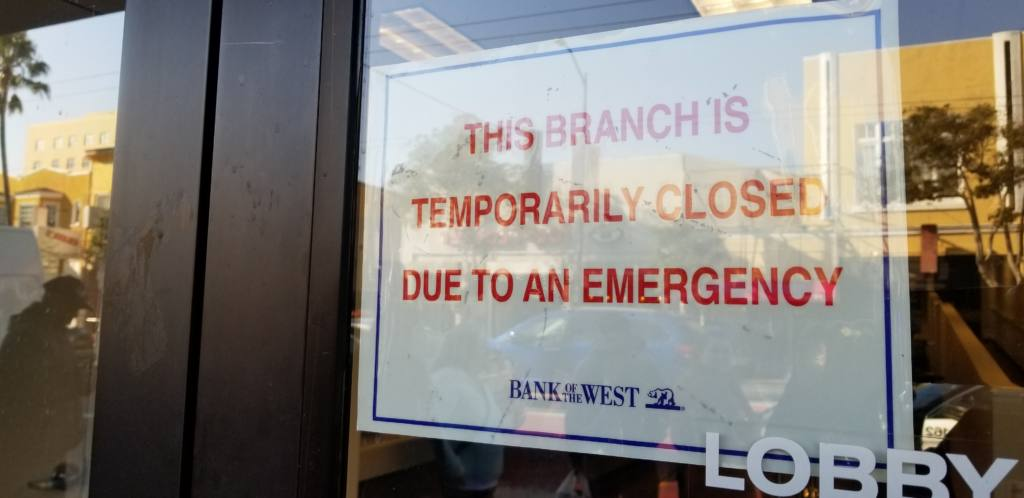 UPDATED: Bank robbery: Police swarm Bank of the West at 24th and Mission