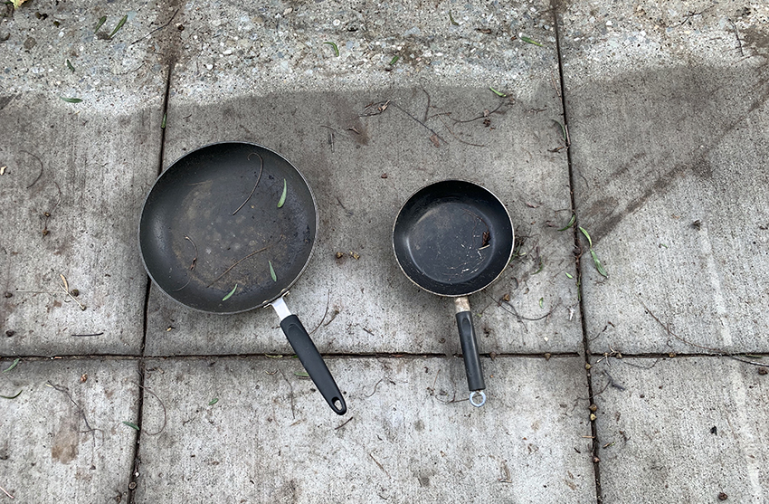Snap: Frying pans on South Van Ness