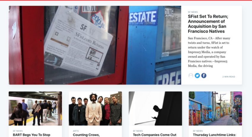 SFist to return  as 'software-assisted reporting and writing' site