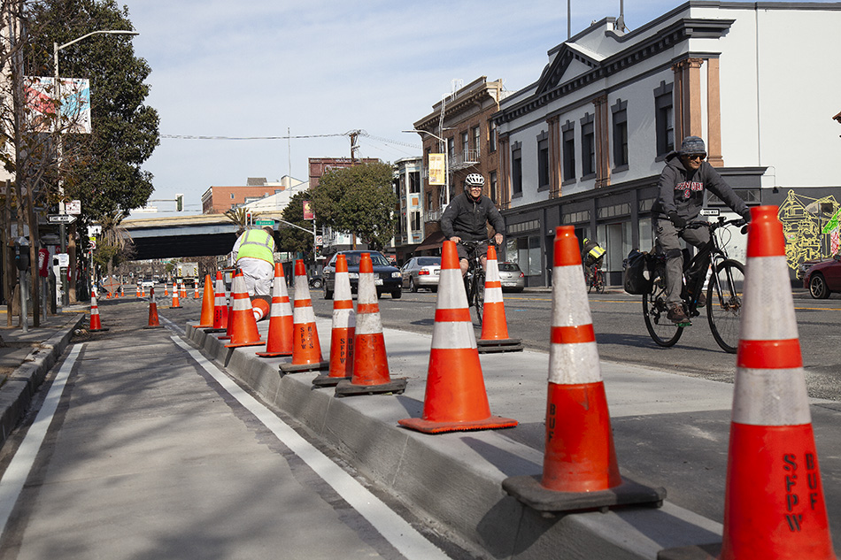 Valencia bike infrastructure improvements under way — but only in select areas