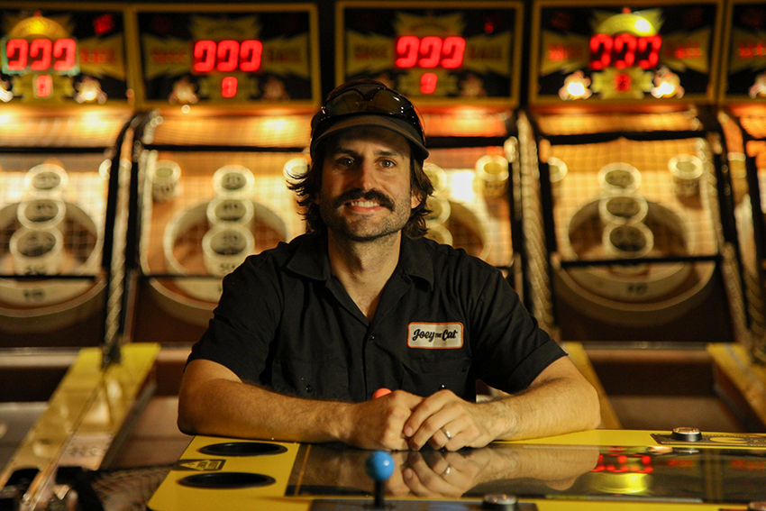 Joey Mucha in his arcade