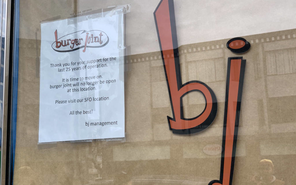 Burger Joint on Valencia Street won't return — shop closes after 25 Years