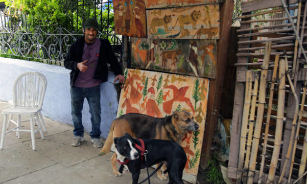Snap: The artist and his dogs