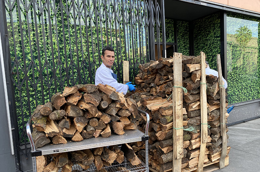 Snap: Urban firewood delivery at Foreign Cinema