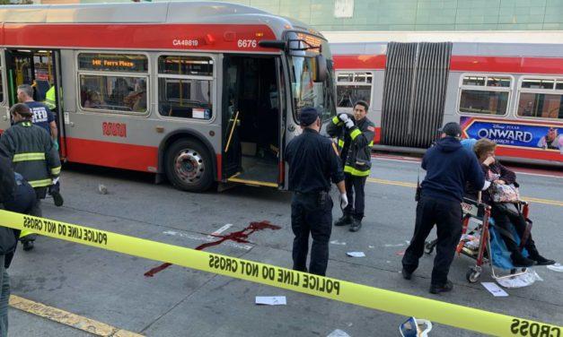 Three pedestrians struck by Prius driver on Mission Street