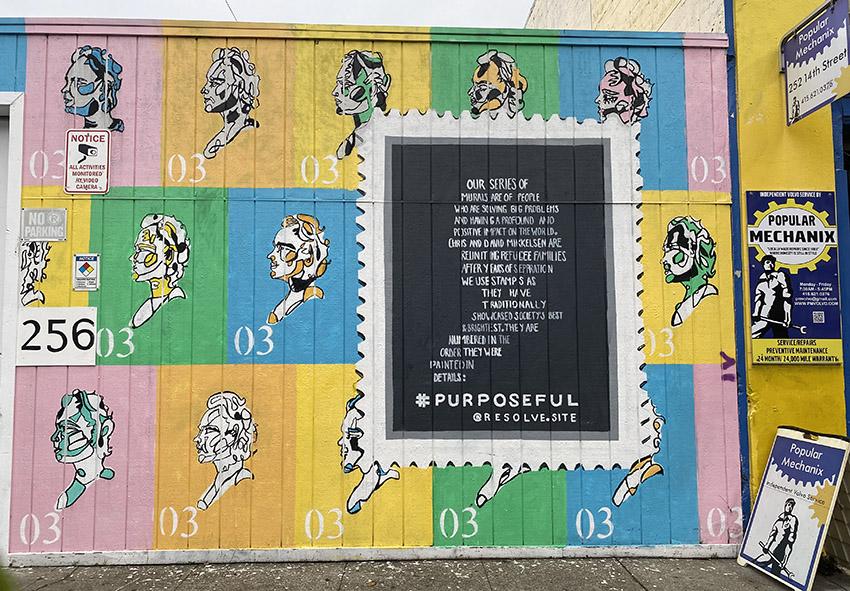 Snap: Purposeful mural on 14th Street
