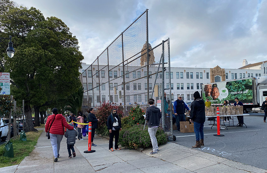 San Francisco-Marin Food Bank arrives at SF public schools — and so do the hungry