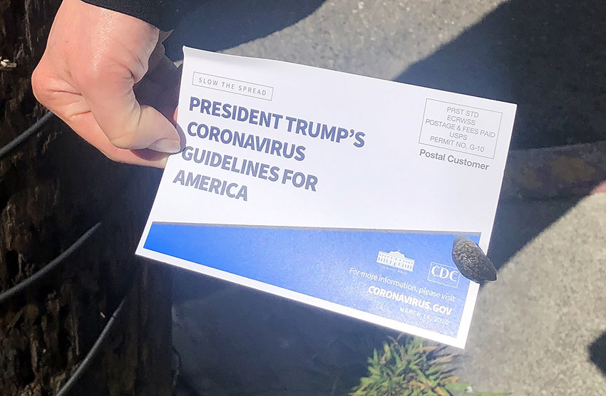 Snap: President Trump's coronavirus guidelines for America saved a life today