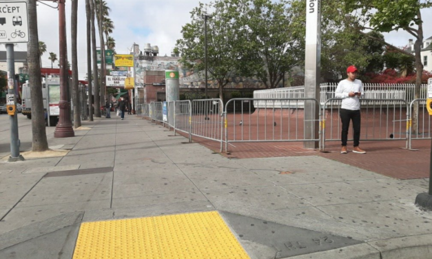 Barriers go up at 16th and 24th BART Plazas to enforce social distancing