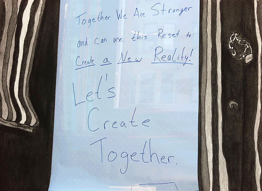 Signs of Solidarity: Businesses and residents display messages that unite us