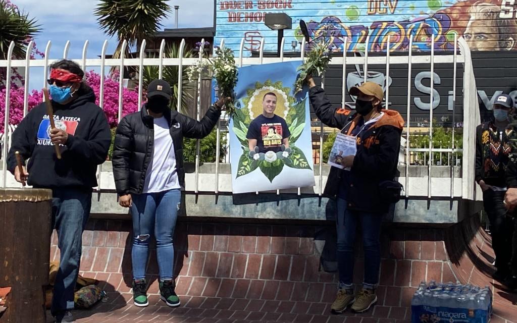 Más de 100 personas se reúnen entre las calles 24 y Mission por Sean Monterrosa, muerto a tiros por un policía