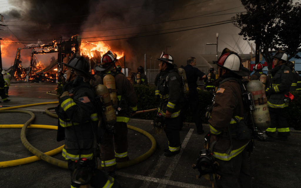 Photo essay: Fighting a five-alarm fire on 14th Street