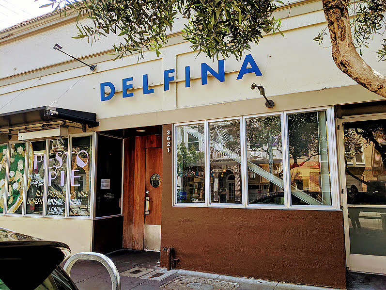 Takeout at Pizzeria Delfina: birthed in the Mission
