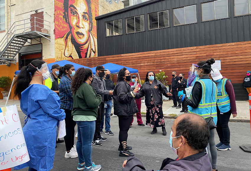 Demand at the Mission's COVID-19 mobile testing site is strong, but SF Department of Public Health lags in providing tests and other supplies
