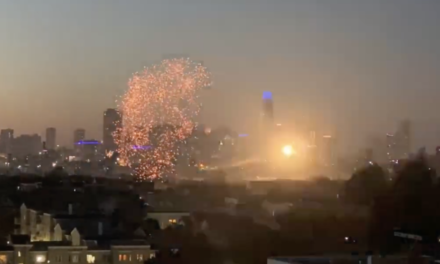 VIDEO: S F. fireworks from Bernal