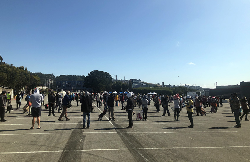 Cow Palace shows have stopped, and now it's hosting food lines